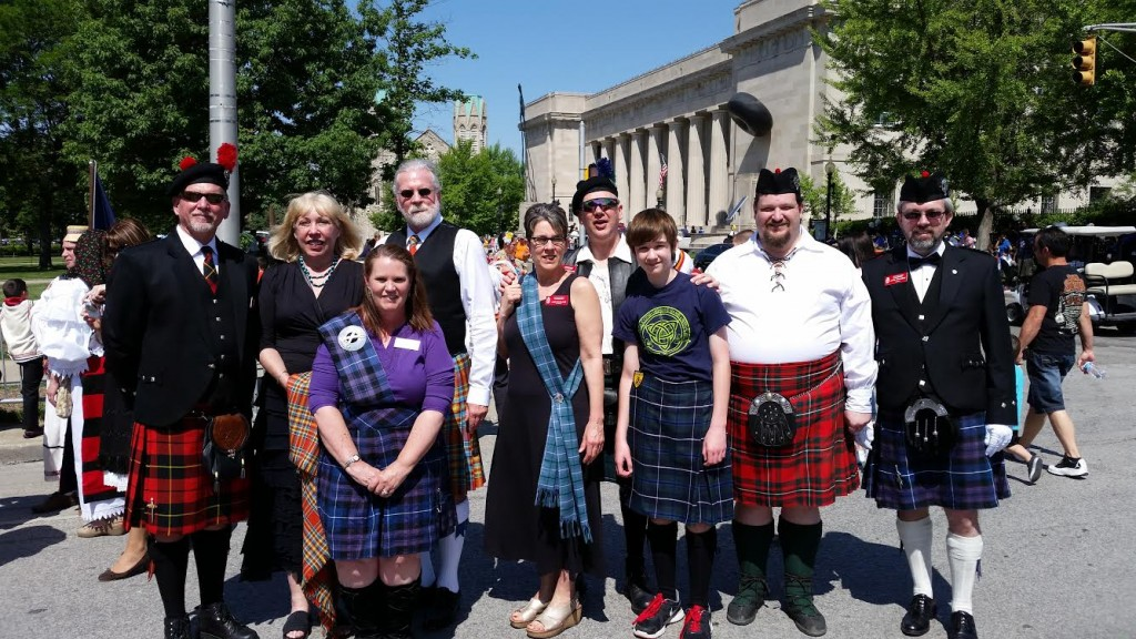 IndyScots at the IPL 500 Festival Parade, 2015